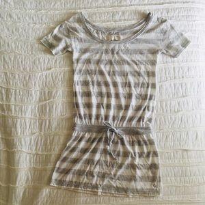 abercrombie kids Grey & White Striped Dress